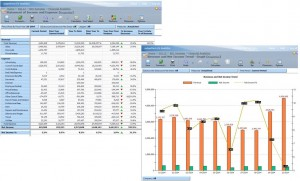 Screenshots of BIO Business Intelligence for Microsoft Dynamics